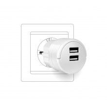 ADAPTOR GO MINI ME 2 X USB 2.4A ΛΕΥΚΟ SAS